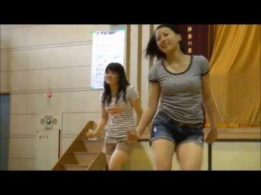 女子高生 体育館でダンス
