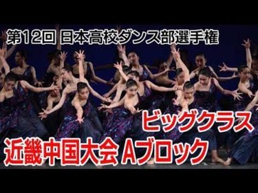 第12回高校ダンス部選手権 近畿中国大会Aブロック(ビッグクラス)